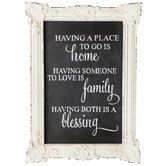 Home, Family, Blessing Wood Wall Decor